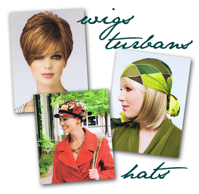 wigs, hats, turbans